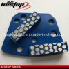 Spot Segments Diamond Double Bar Grinding Shoe for Trapezoid Floor Grinder