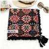 Lady Fashion Square Scarf with Tassel National Style Shawl Printed Wholesale