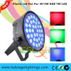 Plastic LED PAR Light Slim Housing 36PCS*3W Tri RGB LEDs for Home Party Light