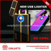 New Design Fingerprint Induction Dual Arc USB Charged Electric Lighter