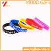 Hot Selling Printed Logo Solid Color Silicone Wristband (XY-SW-002)