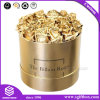Gold Waterproof Round Paper Packaging Gift Flower Box