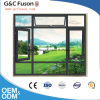 Good Quality Wooden Color Frame Aluminum Casement Window with Single or Double Glass