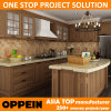 Oppein Classic Walnut PP Project Kitchen Cabinets Furniture (OP14-PP01)