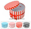 DOT / Stripe Printing Round Paper Gift Box with Ribbon