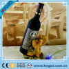 Wine Bottle Holder and/or Decorative Sculpture Yellow Elephant Polyresin