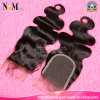 Natural Color Natural Black Hair Medium Brown Brazillian Hair Swiss Closure Lace