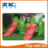 Amusement Park Kids Plastic Slide with Swing