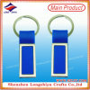 Plastic Keychain with Metal Flat Design