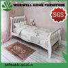 Pine Wood Bedroom Sleigh Slat Bed in Single Size