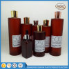 Amber Round Golden Cap Pet Lotion Shampoo Bottle