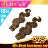 Best Quality Color #4 Body Wave Human Hair Weft