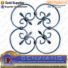 Iron Main Gate Flower Panels Wrought Iron Rosettes