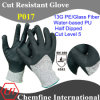 13G PE/Glass Fiber Knitted Glove with Water-Based PU Coated Palm/ En388: 4543