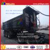 Tri-Axle 35m3 End Dump Semi Trailer with Square Box
