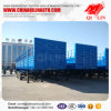 3 Axles Super Single Tyre Stake Utility Semi Trailer