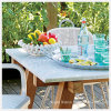 Modern Outdoor Home Furniture with Toughened Glass Copy Marble