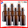 Wholesale Home Brewing Used 500 Ml Swing Top Amber Glass Beer Bottle