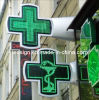Wooden Box Package Outdoor Use Iron Cabinet LED Pharmacy Cross China
