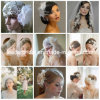 Custom Bridal Accessories Handmade Wedding Veils Fascinator Custom Bridal Birdcage Veils Hair Pieces