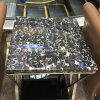 Black Fossil Marble Stone Table Top Round or Square