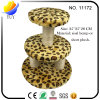 Cat Accessories Leopard Cat Scratcher Cat Tree with 3 Towers 25*25*28cm (YUY-CWMS-11172)