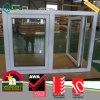 PVC Vinyl Double Panel Hurricane Impact Casement Push out Windows