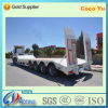 3 Axles Lowbed Truck Semi Trailer with Rear Ladder