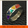 Fashion Jewelry 6PCS Triangle Stones  Stainless Steel Ring (CZR2587)