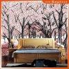 Dreamlike Cherry Tree 3D Oil Painting for Living Room