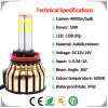 Super Brightest Car LED Bulb with Promotion Newest 100W 4 Sides COB LED Headlight for Car and Motorcycle LED Light (6000K 8000K H4 H11 H7)