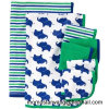 Knitted Cotton Printed Baby Blanket and Washcloth Set in China