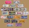 Custom Embossed Decorative Metal Tin Car License Plate Metal Tin Aluminum Sign