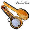 Hanhai Music / 5 Strings Mandolin Banjo Electric Guitar with Hardcase