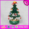 2015 Cute Cartoon Green Wooden Children Music Box, Manual Wooden Tree Shape Music Box, Wooden Music Toy Best Gift in Bulk W07b007A