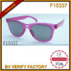 Hot Sale Plastic Sunglasses with Crystal (F15377)
