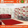 Romantic Red Floral Vinyl Wall Paper for Interior Decor