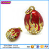Hot Sale Tin Alloy Jewelry Fashion Eggs Charm # 17308