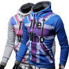 Men Winter Hoodie, Flag Print Sweatshirt (A078)