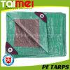 Silver/Green PE Tarps with UV Treated