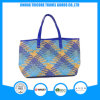 2017 Good Quality Knit PU Tote Bag Beach Bag