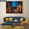 Walking Street Painting on Canvas Print