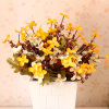 Cheap Artificial Cordate Telosma Flower Bouquet with 24 Flower Heads