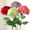 Cheap Hydrangea Real Touch Silk Artificial Decorative Flowers Wedding Flowers