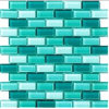 Factory Green Glass Cube Tile