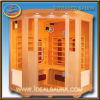 Carbon Fiber 4 Person Corner Infrared Sauna (IDS-3LA2)