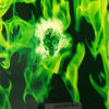 Green Skull and Flame Water Transfer Printing Film No. K01y877X1a