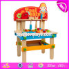New Children Pretend Play Tool Kit Toys Wooden Kids Tool Bench W03D083