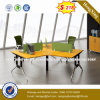 Wooden Office Desk 4 Seats Office Partition Workstation (UL-NM078)