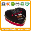 Romantic Heart Shaped Milk Chocolate Tin Box for Valentine′s Day